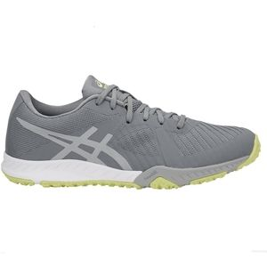 Asics Gray and Lime Green Athletic Sneakers